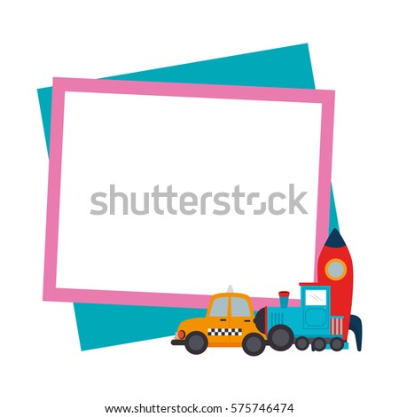 Color Frame Border Baby Toys Stock Vector Royalty Free 575746474