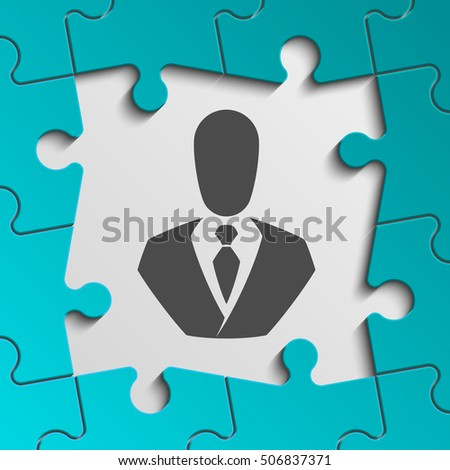 color frame puzzle piece perfect banner stock vector royalty free