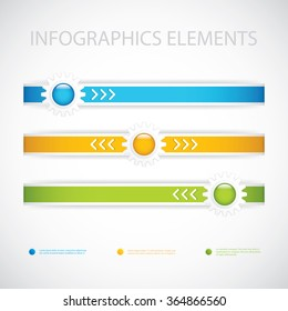 Color Gears Infographics Options Vector