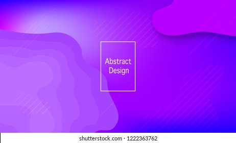 Color geometric gradient, futuristic background. Detail of modern wallpaper design, packaging. Creative colored lines, abstract shapes, dots. Background in minimalist style.