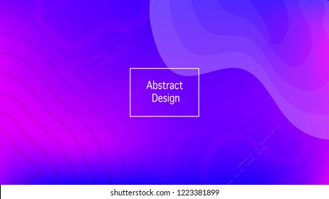 Color geometric gradient, futuristic background. Element of modern design wallpaper, background, packaging. Bright color lines, abstract shapes, dots.  Background in minimalist style.