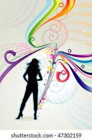 color girl vector