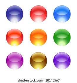 Color glass ball web icons, set 32
