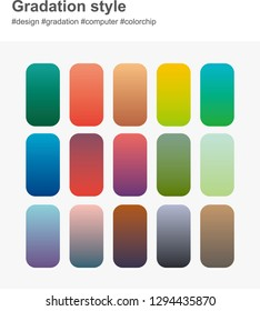 color gradation style