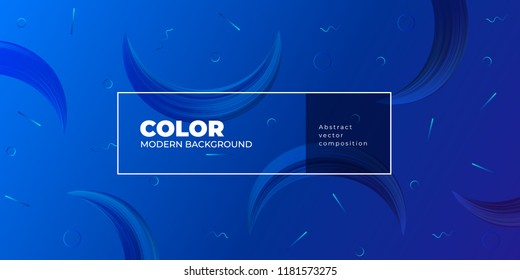 Color gradient background design. Abstract geometric background with moon shapes. Cool background design for posters. Eps10 vector illustration
