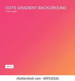 Color gradient halftone background. Dot textured pattern backdrop. Template for prints, covers, flyers, posters, placards and banner designs. Vector illustration.