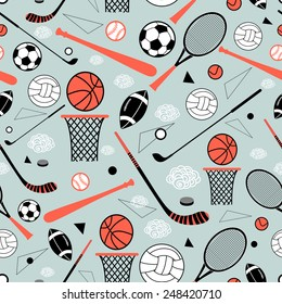 color graphic pattern sporting goods on a blue background