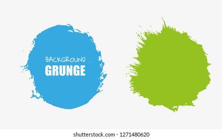 Color grunge round shapes