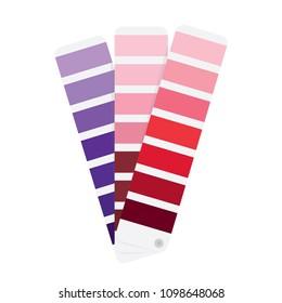 Color Guide Book, Palette, Color Palette Guide, Vector Icon Illustration Background