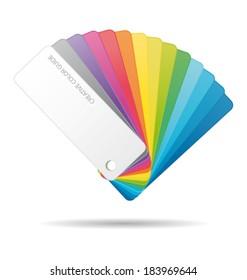 Color guide. Vector icon.