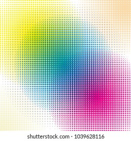 color halftone dots vector background