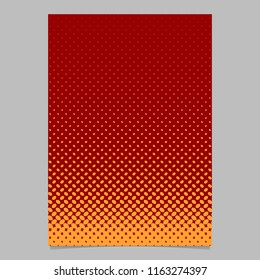 Color halftone ellipse pattern page template design - vector brochure background illustration with diagonal elliptical dots
