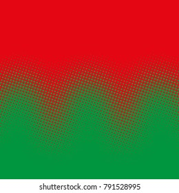 Color halftone gradient waves