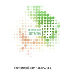 Color halftone spotted flash design element. Vector illustration.