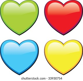 color heart icon