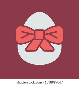 Color icon egg with bowknot