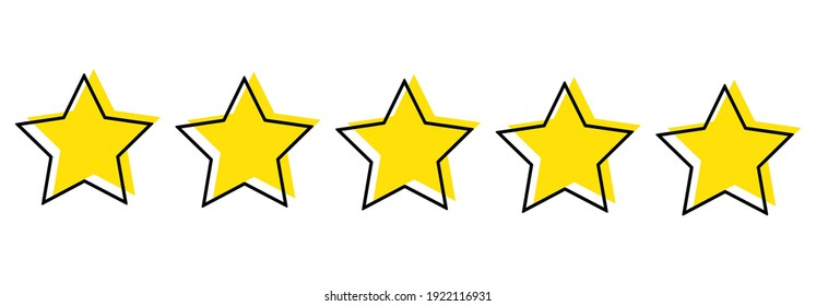 Color image of stars on a white background, flat vector illustration
