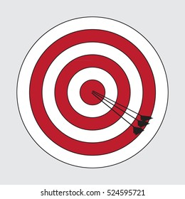 color image of the target archery