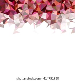 Color irregular triangle mosaic vector background design