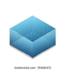 Color Isometric Vector Illustration Of Water For Web, Print, Mobile and GUI