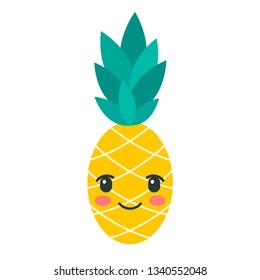 Color kawaii pineapple icon