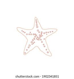 color line animal starfish icon vector illustration