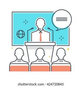 Color line, conference illustration