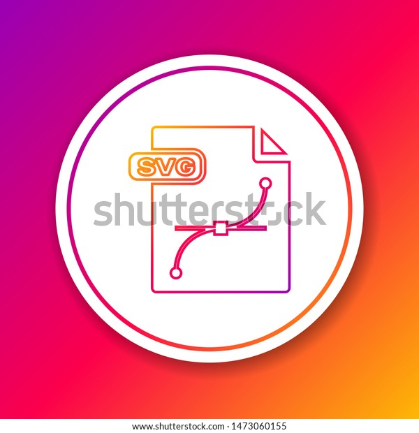 Color Line Svg File Document Download Stock Vector (Royalty