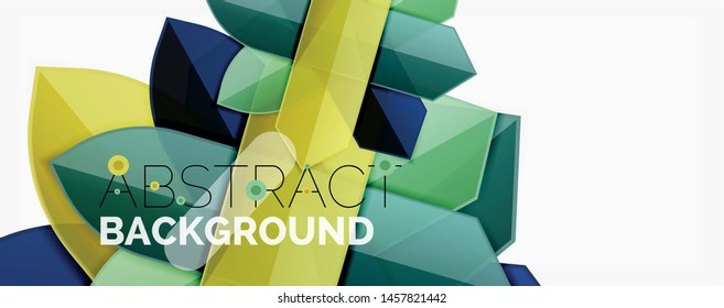 Color lines, modern geometric abstract background. Minimalistic design, creative concept, stripes with arrows and triangle shapes. Vector illustration