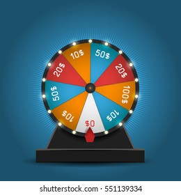 Color Lucky Wheel Template. Vector illustration