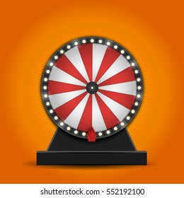 Color Lucky Wheel Template. Vector illustration