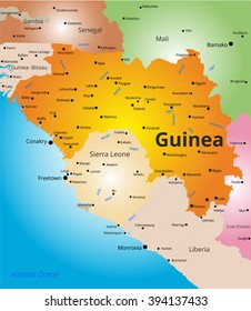 color map of Guinea
