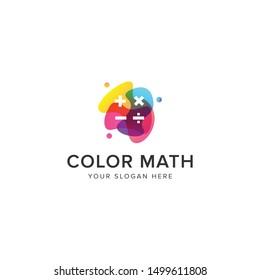 Color math logo vector icon