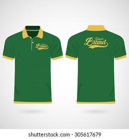Color men polo shirts. Design template. Vector illustration