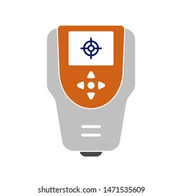 color meter device icon. flat illustration of color meter device - vector icon. color meter device sign symbol