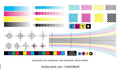 color mixing scheme or color print test calibration concept.