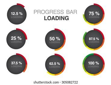 Color Modern Circle Progress Bar Loading