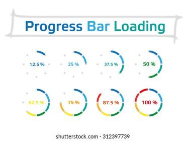 Circle Progress Bar Stock Illustrations, Images & Vectors