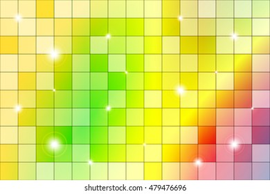 color mosaic of bright colorful. Yellow, red and orange colors. Vector illustration. For the design, printing, Wallpaper.