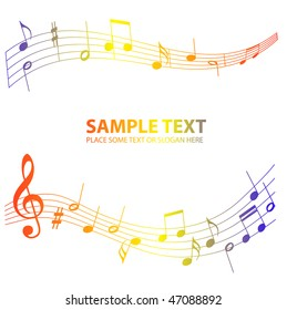 color music notes background