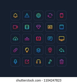 Color Outline User Interface Icons