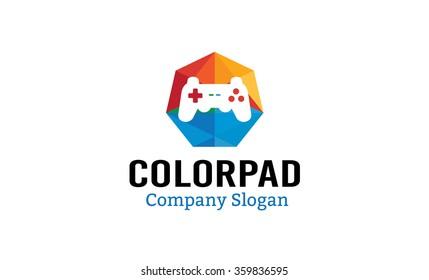 Color Pad Symbol Logo Design Illustration