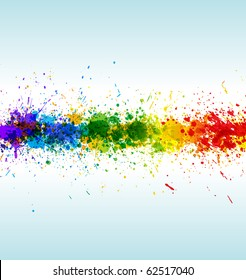 Color paint splashes. Gradient vector background on blue and white background. EPS10