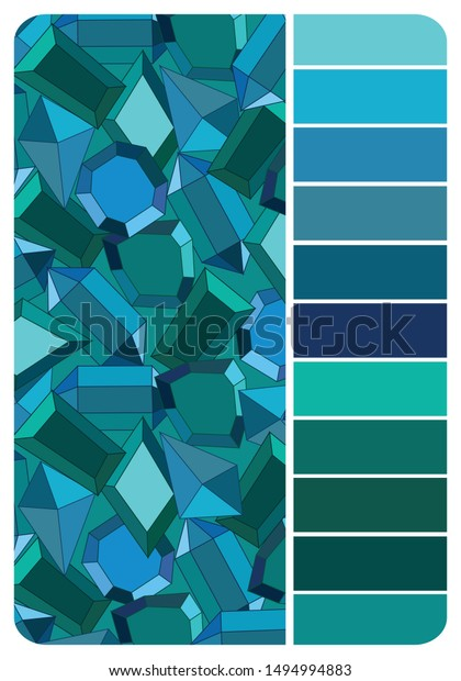 Color Palette Blue Green Color Background Stock Vector Royalty Free 1494994883,Barbra Streisand Mall Under Her House
