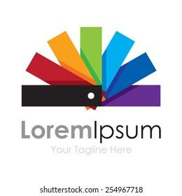 Color palette cute spectrum wheel simple business icon logo