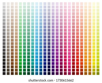 Color Palette with Every Hue Light to Dark