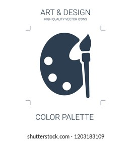 color palette icon. high quality filled color palette icon on white background. from art collection flat trendy vector color palette symbol. use for web and mobile