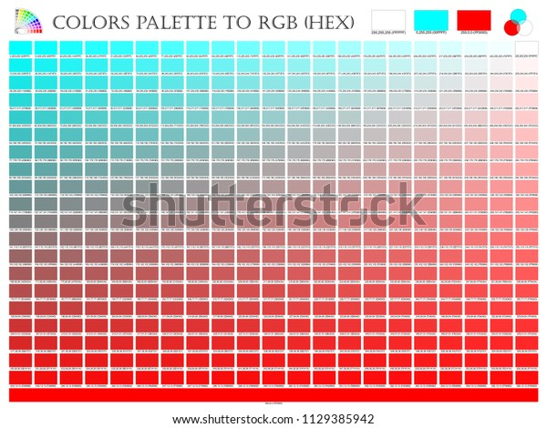 Color Palette Mixer 3 Color Sky Stock Vector (Royalty Free