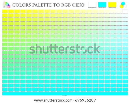 Color Palette Mixer 3 Color Yellow Stock Vector Royalty Free
