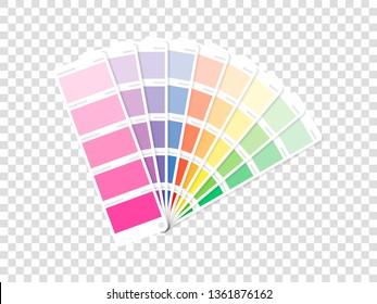 The color palette on a transparent background.